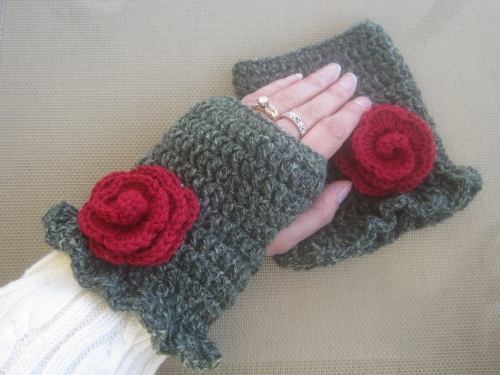Rose Garden Fingerless Gloves